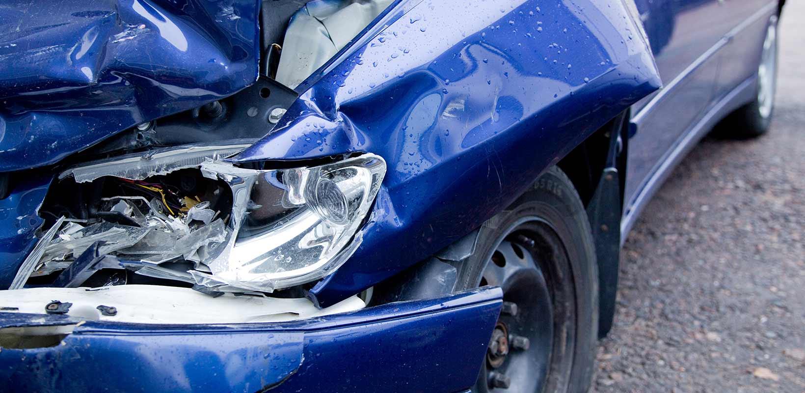 totalskadet bil